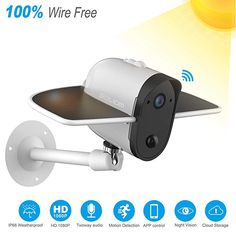 Outdoor Solar Battery Powered Security Camera Soliom Bird S60 1080p Home Wirele