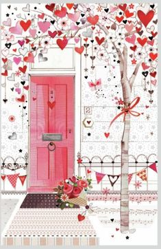 43 ideas for wallpaper love heart paint Heart Art, Love Heart, Happy Heart, Heart Painting, Illustration Mode, Belle Photo, Happy Valentines Day, Envelopes, Illustrators