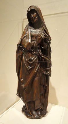 Mourning Virgin, Hans Tilman Riemenschneider, c. 1510 - Nelson-Atkins Museum of Art - DSC08509.JPG