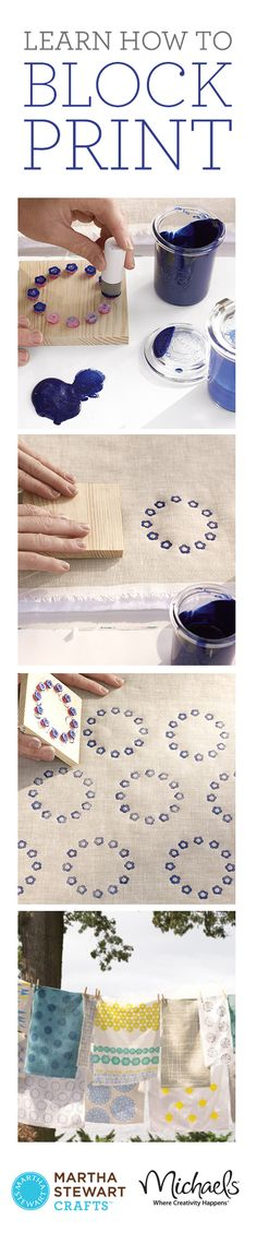 how to block print. Thanks Martha!