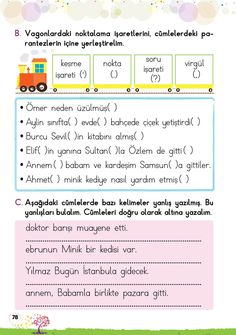 1. Sınıf Konu Anlatım EV ÇALIŞMALARI Turkish Language, Arabic Language, Learning Arabic, Grade 1, Homework, Worksheets, Periodic Table, Classroom, Student