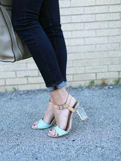 color blocked sandal
