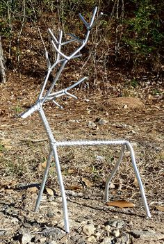 Silver Deer original metal art sculpture by MetalArtDude on Etsy