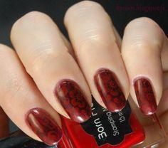 Kynsin: Punaista punaisella Born Pretty, Nail Art, Nails, Beauty, Finger Nails, Ongles, Nail Arts, Beauty Illustration, Nail Art Designs