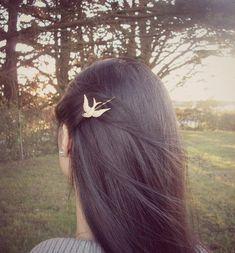 Gold Bird Bobby Pin  Bird Hair Clip Gold Bridal by dreamsbythesea, $25.00