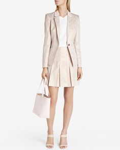 Exotic suit skirt - Beige | Tailoring | Ted Baker UK
