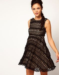 River Island Lace Skater Dress