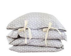 ORGANIC Toddler Bedding set - 'Homy home home' bedding