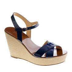Need new navy wedges.  But I doubt the comfort on these.  (Not to mention $128.00)