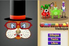 """""""Carnaval Vedoque"""" juega a transformar los rostros, disfrazándolos, conforme a un modelo original, con un tiempo limitado para encontrarlo y pasar a la siguiente fase. Se puede jugar, más difícil, también siguiendo, no un modelo, sino indicaciones textuales. Se puede jugar también libremente."""