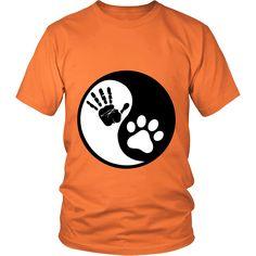Ying Yang Human Hand & Cat Paw T-Shirt