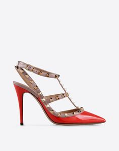 valentino รองเท้าส้นสูงสีแดง