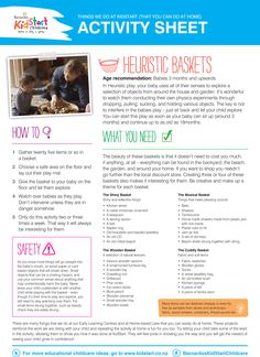 Heuristic Baskets - At KidStart we give children the very best start in life to help them learn, play and grow. Part of our video and activity sheet series Things We Do At KidStart to show you what we get up to, and how you can do them at home! The videos are also on our YouTube channel as well: YouTube.com/BarnardosKidStart