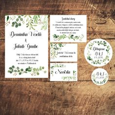 Svatební oznámení včetně zdobené obálky Wedding Card Templates, Wedding Cards, Program, Free Planner, Wedding Inspiration, Wedding Ideas, Printable Wall Art, Printables, Weddings