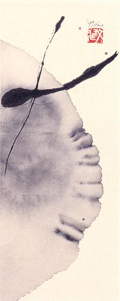 Minjung Kim(Korean, b.1962)    Call (Richiamo)   1999    Ink on rice paper