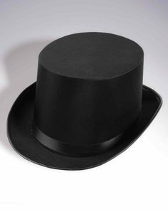Deluxe Black Satin Magician Top Hat includes Magicians | Wizards Slash Premium true-black Satin top hat as featured for unisex-adult, unisex-child