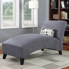 Handy Living 340CLAAA16084 Microfiber Chaise Gray ** You can get more details by clicking on the image.