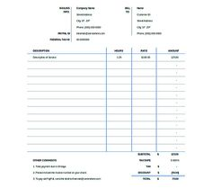 Download Free Professional Billing Statement For Your Company And