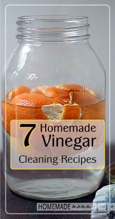 7 Homemade Vinegar ~~ Cleaning Recipes | www.homemademommy.net