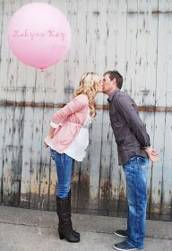Kristie-idea for your maternity session.  I Heart Pears: 15 Awesome Gender Reveals