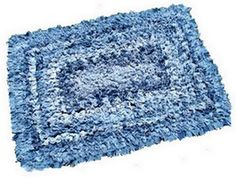 Recycled Denim Scatter Rug:  SEW many old pairs of jeans to repurpose!