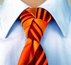 The Trinity Knot for your necktie.  How to video.