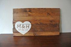 Personalized- Hand Painted Wood Sign, Wedding Guest Book, Sign