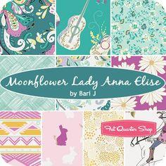 Moonflower Lady Anna Elise Fat Quarter BundleBari J for Art Gallery Fabrics - Fat Quarter Bundles | Fat Quarter Shop
