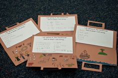 Thanksgiving - We also learned that pilgrims could only take one trunk full of their belongings on the Mayflower. Most pilgrims only packed clothes, tools, and their Bibles.  I made little suitcases for the kids and inside they had to write a list of things they would take with them if they were traveling on the Mayflower…ANYTHING they wanted