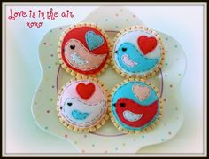 Love is in the Air - Eco Friendly Felt Cookies