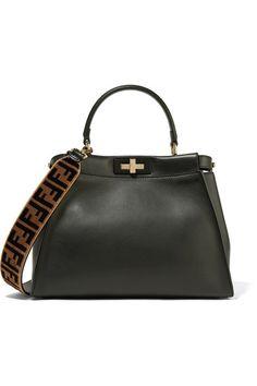 Fendi | Printed velvet and leather bag strap | NET-A-PORTER.COM