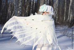 Палантин валяный Крылья ангела - белый,крылья ангела,белоснежный,валяный палантин