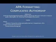 In this vidcast, we discuss working with more than one author, corporate authors, translators, and credited writings. For additional information on APA and w. Writing Lab, Writing Resources, Essay Writing, Apa Formatting, Apa Style, Quill, Writings, Authors, Student