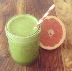 http://www.wellandgoodnyc.com/2013/05/03/recipe-sweet-tart-green-smoothie/ ~ And grapefruit and kale are foods that actually make us more happy, because they're high in carotenoid antioxidants. (Harvard researchers found that there was a direct correlation between  these antioxidants and optimism.)