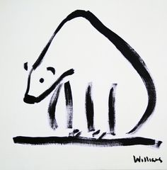"Saatchi Online Artist Susan Margaret Williams; Painting, ""Polar Bear"" #art"