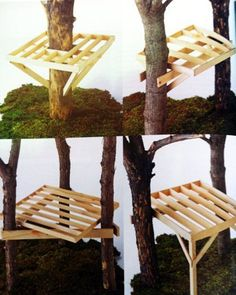New tree house kids cool ideas Cubby Houses, Play Houses, Outdoor Projects, Wood Projects, Tree House Plans, Diy Tree House, Building A Treehouse, Treehouse Kids, Cool Tree Houses