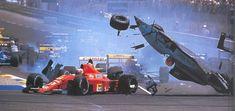 1989 French Grand Prix Start by on DeviantArt Formula 1, Escuderias F1, F1 Crash, F1 Motorsport, Continental, Old Race Cars, Ferrari F1, Vintage Race Car, Indy Cars