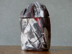 Large Incense Box Watzmann Raku ceramics rock by bothendsburning