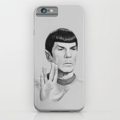 Spock Portrait Star Trek iPhone & iPod Case