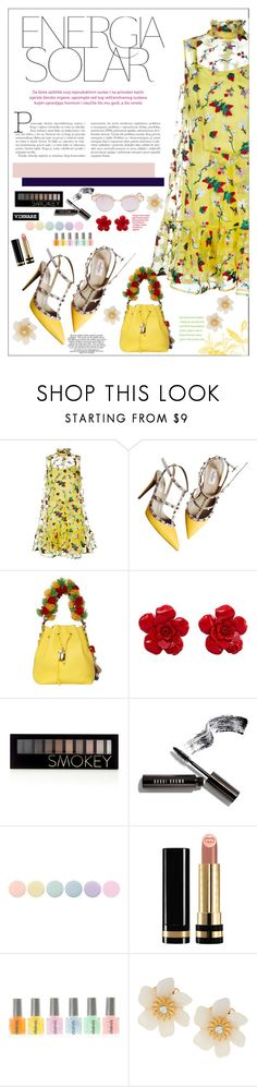"""Untitled #1596"" by anarita11 ❤ liked on Polyvore featuring Erdem, Valentino, Dolce&Gabbana, Chanel, Forever 21, Bobbi Brown Cosmetics, Deborah Lippmann, Gucci, Lydell NYC and Le Specs"