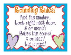This is a FREE download!  I made this cute little poster to help my students with rounding.  I hope you can use it in your classroom!These awes...