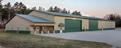 Farm Building Profile Use: Combination farm shop and storage building with offices Size: 80' x 200' x 18' Building Color: Surrey beige Roof Color: Evergreen Designer Wall Color: Evergreen