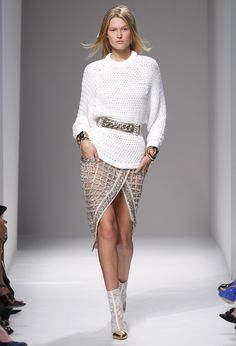 Instantly up the glam factor of your chunky sweaters with metallic add-ons a lá Balmain