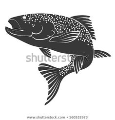 Find Silhouette Salmon Fishing Food stock images in HD and millions of other royalty-free stock photos, illustrations and vectors in the Shutterstock collection. Best Fishing Lures, Fly Fishing, Fishing Tips, Totem Pole Art, Fish Drawings, Silhouette Images, Salmon Fishing, Fish Design, Fish Art