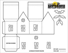 Haunted House Luminary & Party Treat Box Templates | Just Something I Made