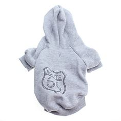 Route 66 Style Fleeces Hoodies for Dogs(Gray,XS-L) – USD $ 9.99