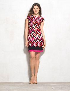 Misses | Dresses | Shift Dresses | Db Signature Chevron Camryn Dress