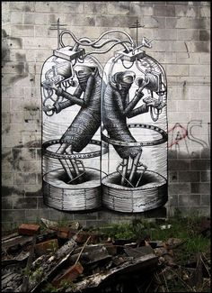 See amazing street art, graffiti art, wall murals & great urban art from street artists all over the world including Escif, ROA, Banksy & Obey Graffiti Art, Grafitti Street, Street Art Banksy, Best Graffiti, Urban Graffiti, Best Street Art, Amazing Street Art, Amazing Art, Street Beat