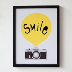 Smile A3 Yellow by seventytree on Etsy, £22.50