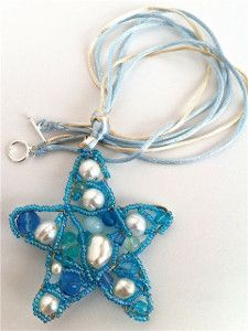 Perfect for summer, this Beachy Wire Sea Star Pendant is light and sparkly. Check out this free wire jewelry tutorial and make one of your own.